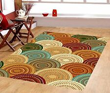 3 X5 Contemporary Rainbow Bright Color Rubber Area Rugs Non Skid