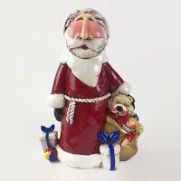 2008 Blue Sky Handcrafted Merry Beary Santa Christmas with Teddy Bear Figurine