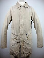 G-star Rct Omega Trench Messieurs Trench Veste Manteau Taille L beige NEUF avec D.