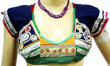 Indian VintageTop Blouse Choli Bra Indian banjara Mirror Work Embroidered