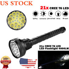 4000LM XM-L LED 21x T6 Super Flashlight Torch Lamp Light 5 Modes 26650 18650 US
