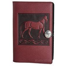 "STANDING HORSE Oberon Design Leather Journal 6""x9"" Large Wine celtic knots JLA08"