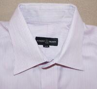 ROBERT TALBOTT Dress Shirt Men 16 34/35 Pink Stripe Cotton Long Sleeve