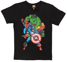 Marvel Comics JayJays Black Marvel Heroes Tee Size S 100% Cotton T-Shirt