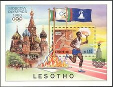 Lesotho 1980 Olympic Games/Olympics/Sports/Torch/Flame/Athletes 1v m/s (b566e)