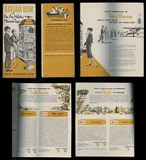 1958 PAN AM Airlines BARGAIN BOOK Holiday Pleasure Trips 20 pages w/ BUDGETIZER