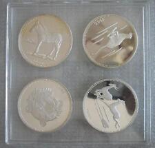 EQUATORIAL GUINEA 2000 Ekuele 1980 Silver Proof Set Wildlife