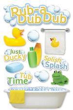 PAPER HOUSE RUB A DUB DUB BATH TIME BABY KIDS DIMENSIONAL 3D SCRAPBOOK STICKERS