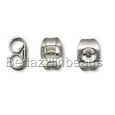 50 304 Stainless Surgical Steel Butterfly Earring Backings for Post Stud Backs