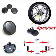 4pcs/Set 60mm Universal Carbon Fiber Look Car Wheel Center Hub Caps Covers ABS