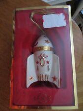 Lenox 2002 Rocketship Trinket Box Ornament Rocket Space Ship