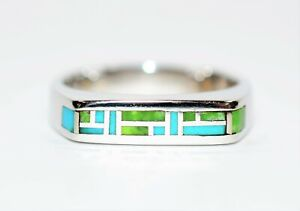 Turquoise 14kt White Gold Cluster Statement Gemstone Ring