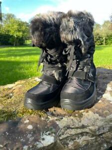 Adult female Apres Ski Winter Boots. White Rock. Crystal. Black. Size Eur 37