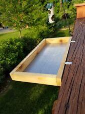 New listing Large size cedar Platform Bird Feeder for Deck or Window