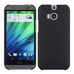 Black Barely There Case Cover for HTC One (M8) Hard Shell by Case-Mate