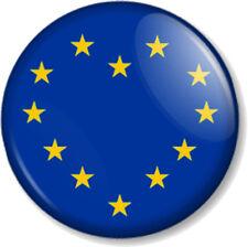 "EU Heart Referendum Vote European Union Flag 1"" Pin Button Badge Brexit Remain"