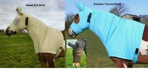 Snuggy Hoods *SWEET ITCH HOOD* or *SUMMER TURNOUT HOOD* (Fly, Combo) Zip/PullOn