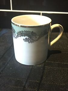 China Style Simpson's (Potters) Green & Gold Feathers China Espresso Coffee Cup