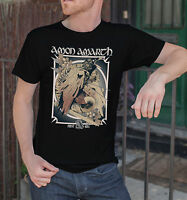 Amon Amarth Men Black T-Shirt Death Metal Band Tee Shirt Vikings First Kill Tee
