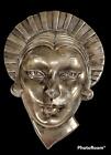 1930 Art Deco Frankart Chromed Female Mask Wall Plaque Art