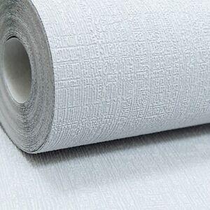 Rasch Plain Thick Textured Vinyl Light to Mid Grey Linen Effect Wallpaper