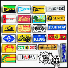 Reggae Record Labels - 22 Brooch Back Badges - Buy the Set or Choose Any Badge