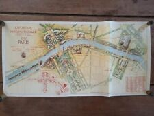 Carte Exposition Internationale Paris 1937