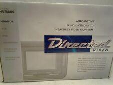 "DIRECTED VIDEO AUTOMOTIVE 5""  COLOR HEADREST VIDEO MONITOR HVM500 NIB"