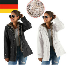 Warme Damen Winter Jacke Parka Lang Mantel Winterjacke Fell Kragen Fleecejacke