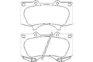 Replacement Mintex Front Brake Pads (Full set for Front Axle) MDB2984