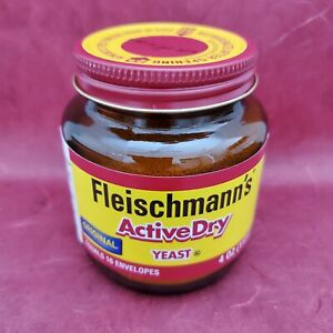 Fleischmann's Active Dry Yeast 4 oz Jar Original Fleischmanns Exp 08/22