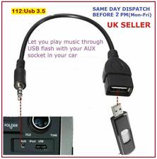 3.5mm Male AUX Audio Plug to USB 2.0 Female Jack OTG Car MP3 USB Drive
