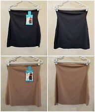 LOT of 2 SHAPERCISE XL 12-14 Cafe Brown Black Smoothing Light Control Half Slip