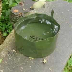 DUTCH ARMY SURPLUS FOLDING WASH / WATER BOWL – compact olive green camo travel