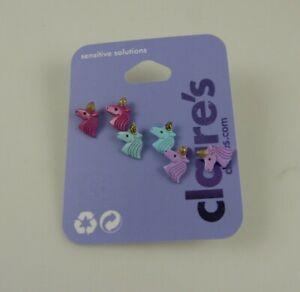 pink purple teal 3 pair Unicorn Claire's  Earrings earring Jewelry Pierced