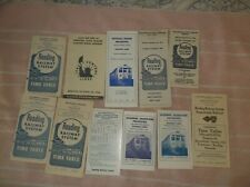 11 Jersey Central and Reading Railroad Public Timetables 1940s +.