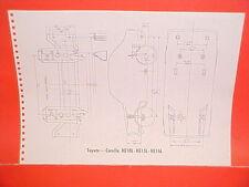 1970 TOYOTA COROLLA KE10L KE15L KE16L CORONA RT43L RT52L FRAME DIMENSION CHART