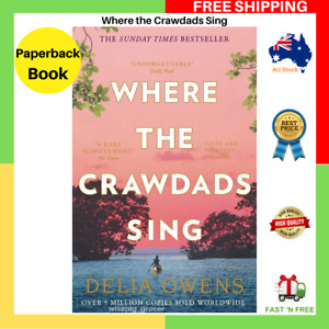 BRAND NEW Where The Crawdads Sing By Delia Owens Paperback Book FREE SHIPPING AU