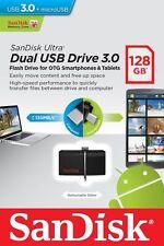 SanDisk 128GB OTG Ultra Dual Micro USB3.0 Flash Thumb Key Drive Memory Stick