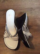 Gorgeous White And Black  New Wallis Mules  Size 6 Uk 39 Eur