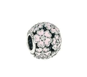 Genuine Pandora Silver Pink Primrose Meadow Charm 791488EN68