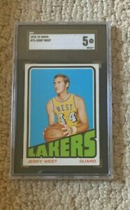 1972 Topps Jerry West #75 *SGC 5 EX*