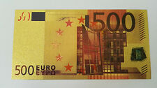 1Pcs Novelty Coloured Euros 500 Banknotes Gold Foil Money Collections Gifts Fe