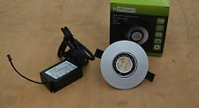 LED Down Light Kit- 9.5w 3200k White Dimmable Colour Silver -