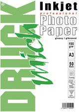 50 St. A3  Druck mich Fotopapier, Inkjet, 155 g/qm, glänzend 2-seitig bedruckbar