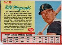 1962 Post #170 Bill Mazeroski VG-VGEX Pittsburgh Pirates