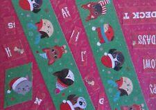 ACEO Mixed Media Collage Christmas Holiday Cats Dogs Pets Abstract Folk Pop Art