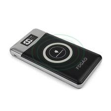 FDGAO 20000mAh Qi Wireless 2USB LCD Power Bank 2LED Lichter Batterie Ladegeräte