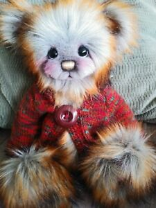 """A Bear By Kim """"Woody"""" OOAK Artist Bear with sweater by Kim Gallimore"""