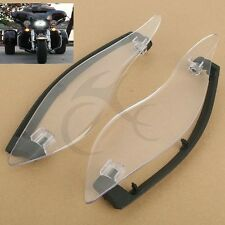 Clear Adjustable Side Wings Air Deflectors For Harley Davidson Touring 2014-17